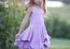 Calla Lily Dress-Violet Tulle