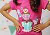 Cup Cake Celebration Tee with Pastel Multi Skort