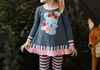 Koala Hug Tunic with Striped Leggings-Rose Shadow and Orion Blue