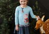 Moonlit Owl Dress with Striped Leggings-Rose Shadow and Orion Blue