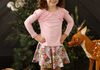 Garland Tee-Rose Shadow with Owl Print Twirl Skirt