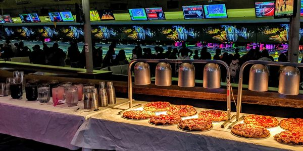School bowling party, unlimited pizza and soft drinks, Sacramento CA