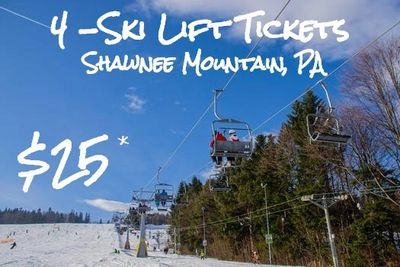 Ski Shawnee for 4. Only $25*