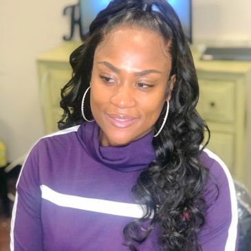 Full lace wig installed by @Glammedbykpie