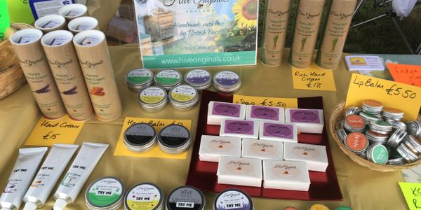 Hive Originals lovely honey and beeswax handcreams and balms