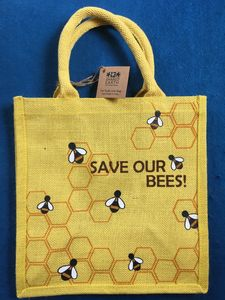 Bag, Save our Bees, Square Jute