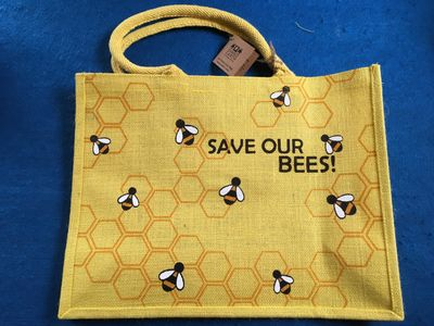 Bag, Save our Bees, Large Jute