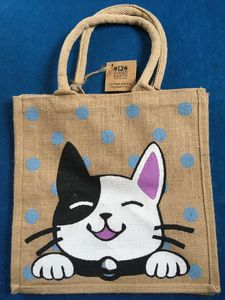Bag, Cat B&W, Square Jute. £7