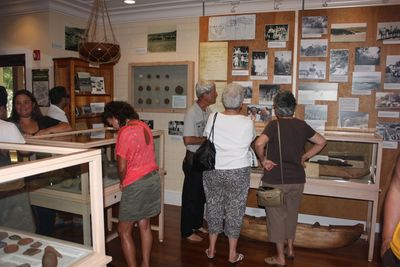 Visitors at the Lāna'i Culture & Heritage Center.