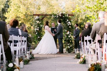 Photo by Chris Bowman Photography Fall Wedding / Outdoor Ceremony The Darby House Micro Wedding