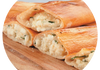 Cheese Pizza / Sade Pide: Turkish feta cheese and mozzerella cheese with herbs & parsley.
