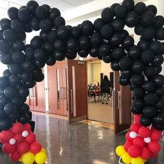 Mickey Mouse Set up  Helium balloon party supplies party event vancouver surrey british columbia