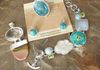 Stunning Set of Jewelry with Semiprecious and Natural Stones