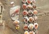 Incredible 3 row Mexican Fire Opal Bracelet & Crazy Lace Agate, Fire Opal and Citrine Pendant