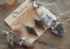 Natural Stone Set of Jewelry with Dendritic Opal, Montana Agate, Sonoran Sunrise and Dendritic Quartz