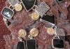 Drusys Plated with 14K Gold&Silver with Onyx
