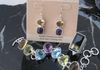 Intensely Colorful Gemstone Bracelet and Earrings