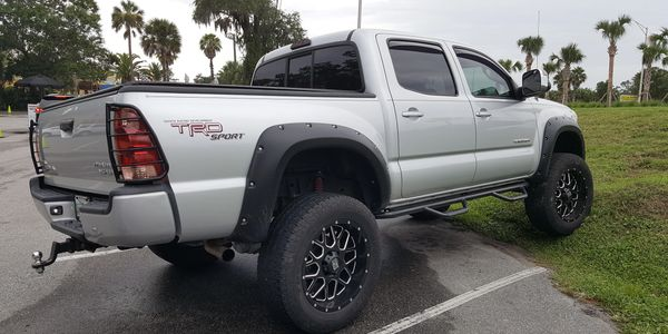 Gear Tech Customs Toyota Tacoma lifted Tacoma splash guards and Tacoma fender liners