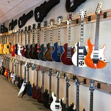 shot of the electric guitars