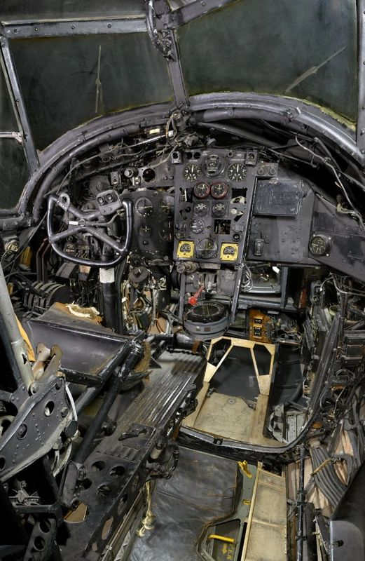 The cockpit of a Vickers Wellington MK X