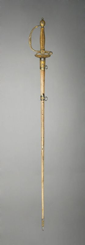 Smallsword with scabbard , Unknown Artist/Maker, c1780 – 1790