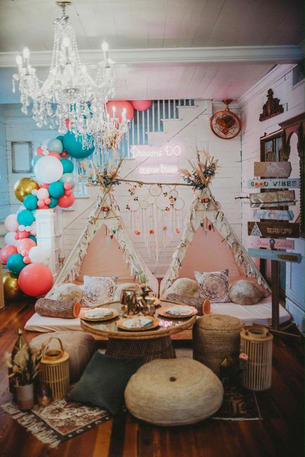 Boho themed birthday party in SWFL. NAPLES Florida childrens event planner