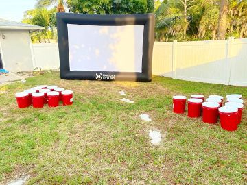 Giant size yard game rentals in Fort Myers, FL