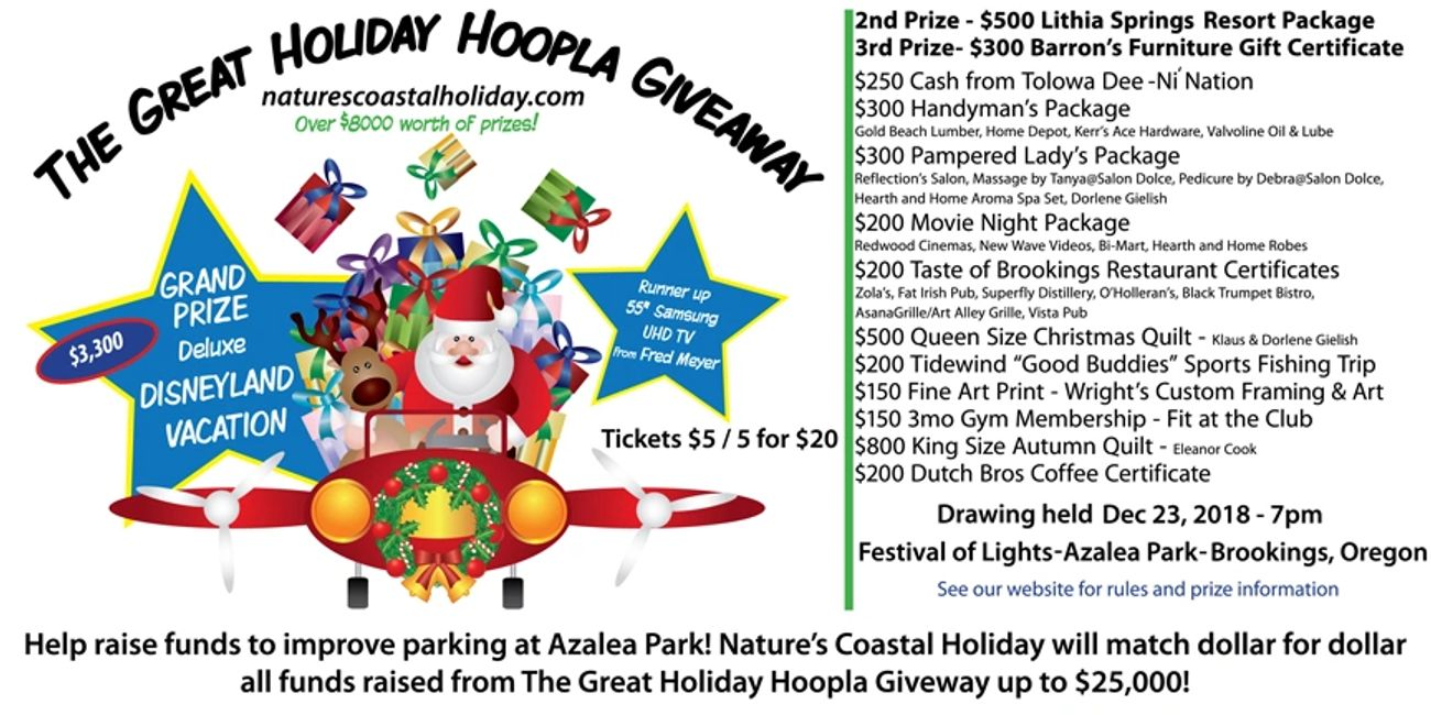 The Great Holiday Hoopla Giveaway Raffle