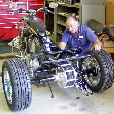 John Edwards, owner of Corsair Trikes, has been building trikes for over 30 years.