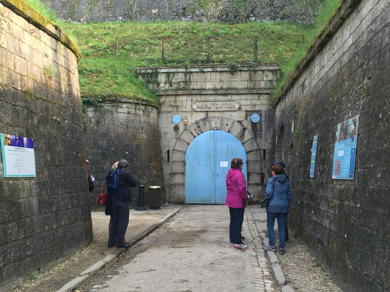The entrance to the Citadel of Verdun, the subterranean headquarters of the French defense of the city in 1916.