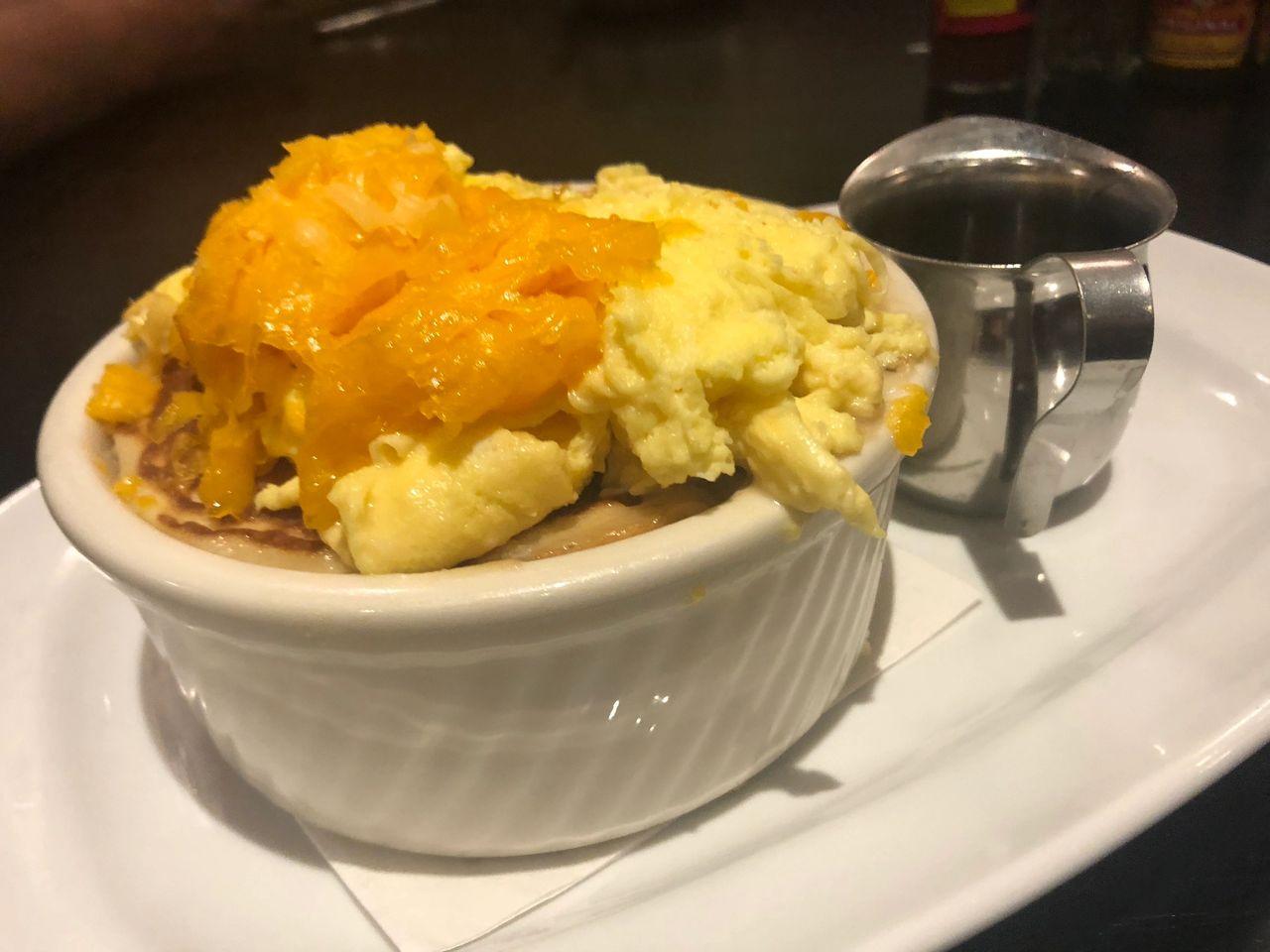 The famous pancake pot pie at Ellen's in Dallas.