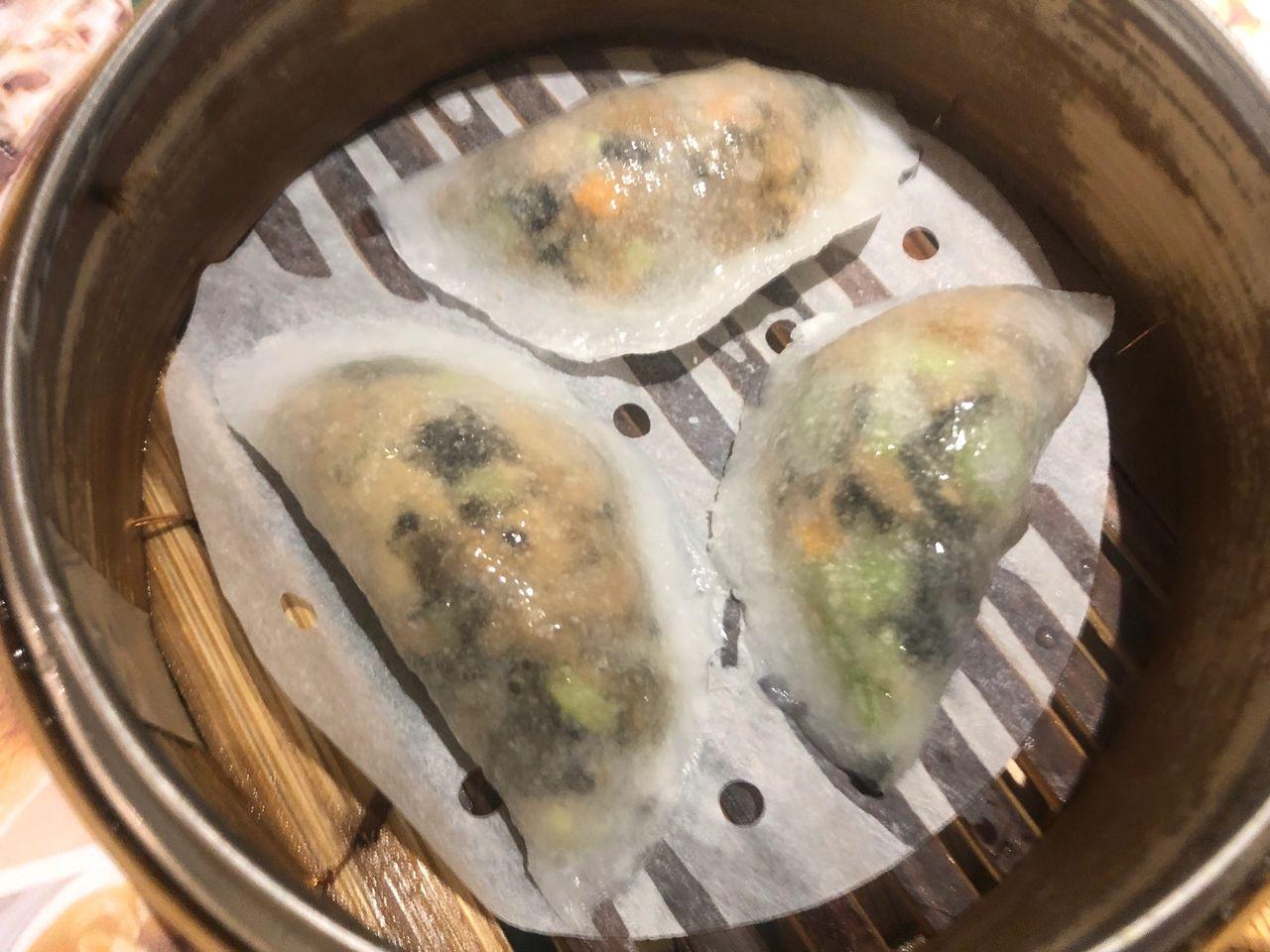 Tim Ho Wan's steamed vegetable dumplings.