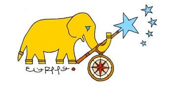 Lucky the Golden Elephant by Eliot Raffit Inspirational