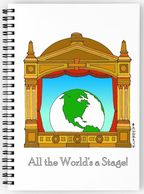Eliot Raffit Art to Use Stationery Spiral Notebook All the World's A Stage
