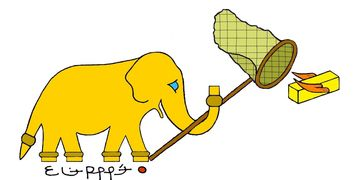 Lucky the Golden Elephant by Eliot Raffit Humor