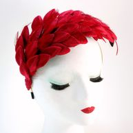 Eliot Raffit Fashion Accessories Fascinators Red Joli Rouge