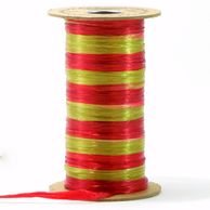 Raffit Ribbons Raffia Two color Combination Duet Pearl Finish Red & Antique Gold
