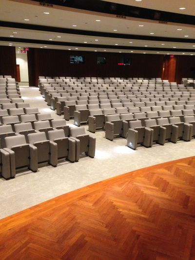 Poltrona Frau Contract T85 auditorium seating installed at J PMorgan Chase - Chicago.