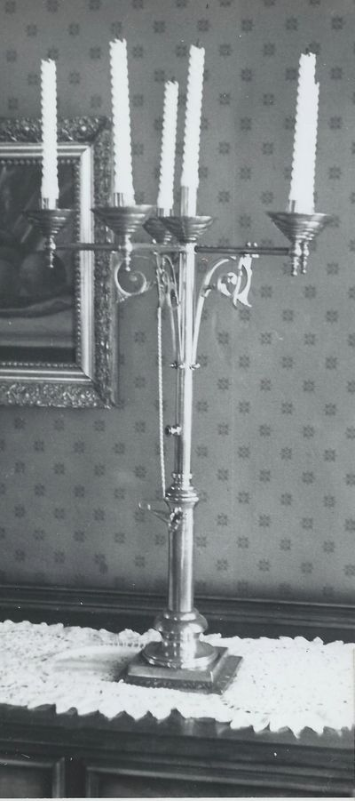 The original newel post light. Please contact us if you have any information on its whereabouts!