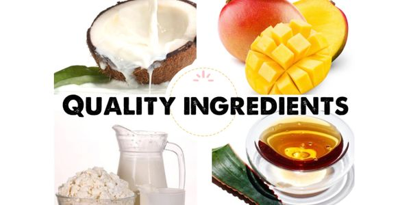 At My Guiltless Treats, we use high-quality ingredients from non-GMO coconut cream to organic agave nectar.