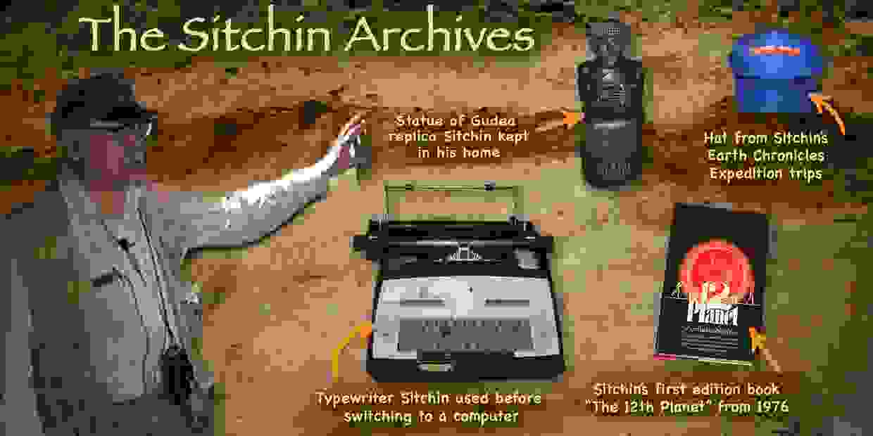 The Sitchin Archives,  Zecharia Sitchin Videos and Books and personal items