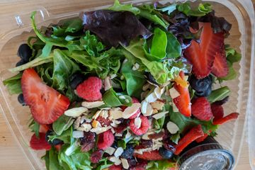 spring greens Salad with Strawberries