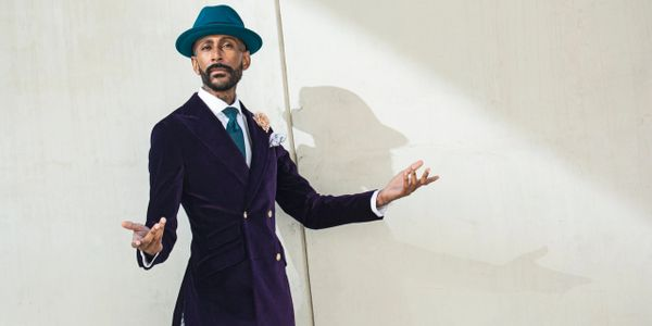 Maurice Sedwell brand ambassador Gregory R. Michael is a walking campaign for bespoke tailoring