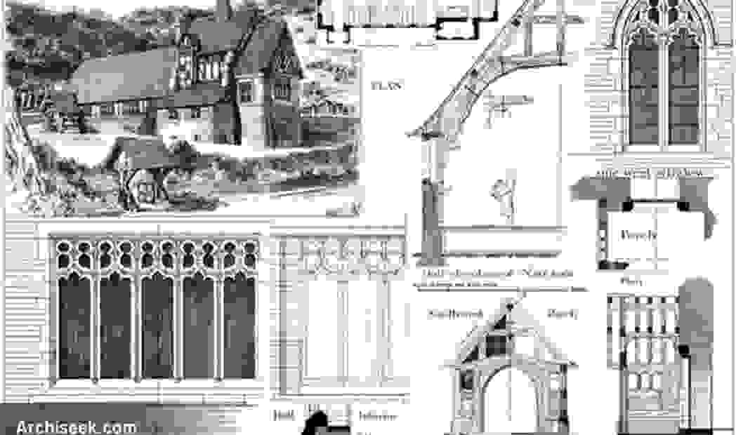 Architectural drawing for St Chad's Church Hopwas