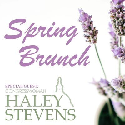Canton Dem Club 2019 Spring Brunch, April 28, 2019 with Special Guest, Congresswoman Haley Stevens.