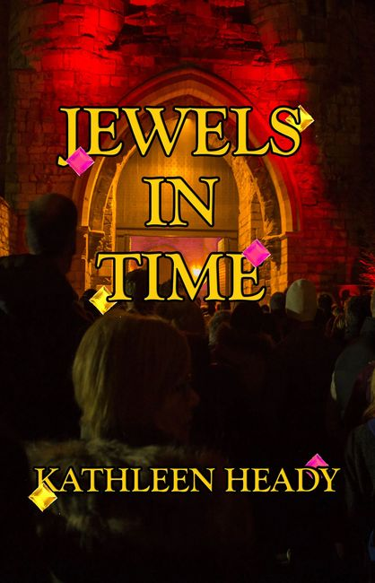 The third book published by Sage Words Publishing, for Kathleen Heady, Jewels in Time, Witches and warlocks go back and forward in time to protect magical jewels