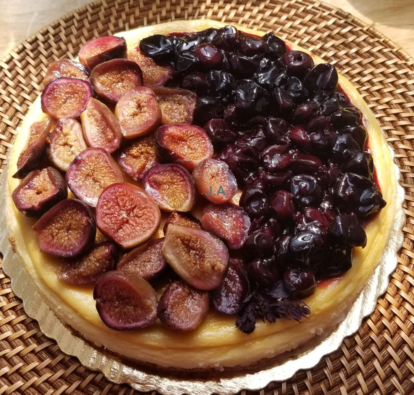 Fig and Bing Cherry Cheesecake