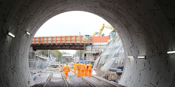 Our new tunnel at Farnworth - a few weeks before it opened