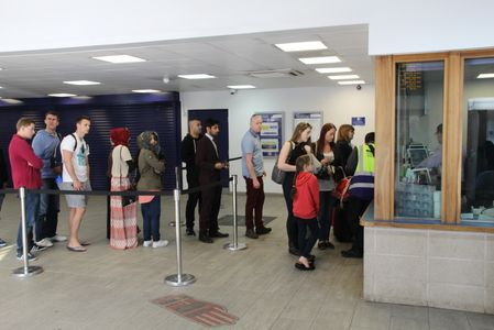 Bolton station's busy ticket office