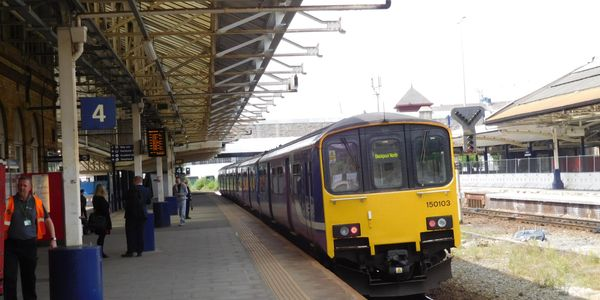 A class 150. the mainstay of Northern services, soon to be refurbished.